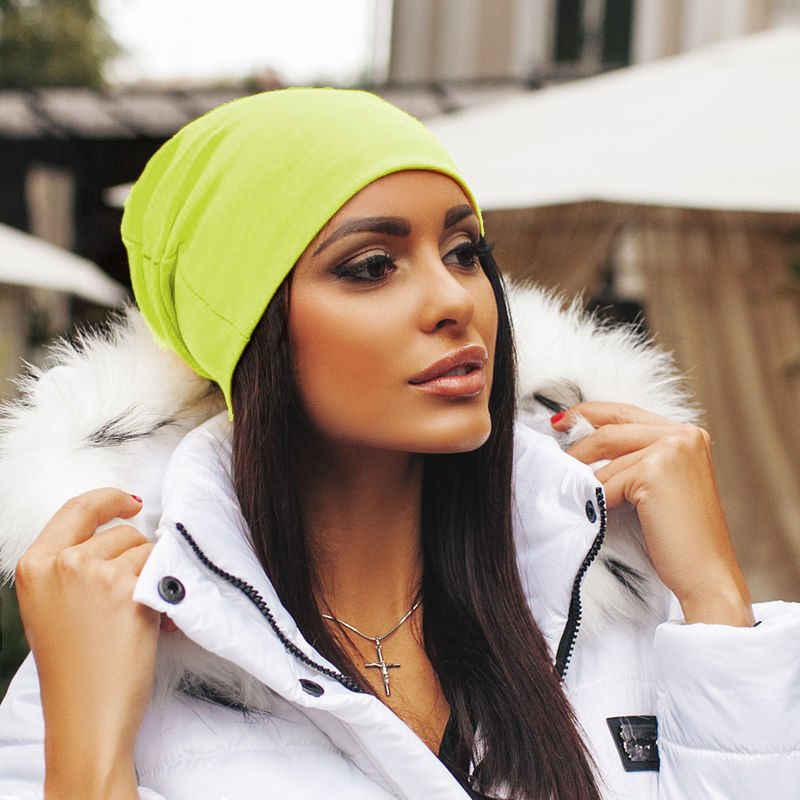 Hot Koop Fashion Solid Lente Herfst Winter Stijlvolle Casual Gebreide Beanie Muts Mannen Katoen Oversized Slouch Unisex Cap Vrouwen