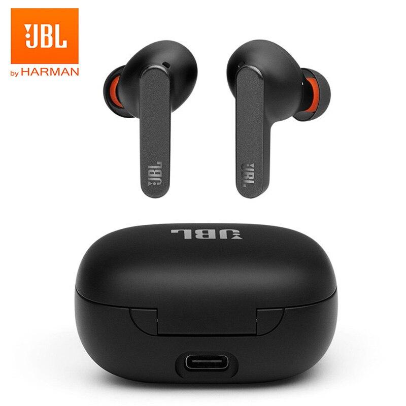 JBL LIVE PRO + TWS наушники с шумоподавлением Bluetooth 5,0 умные спортивные наушники-вкладыши водонепроницаемые стерео гарнитура для звонков Беспроводная зарядка 1