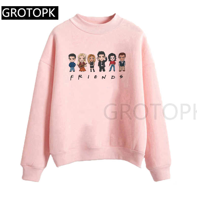 Friends Tv Show Series 2019 New Women Hoodies Harajuku Sweatshirts Hoodies Women Outwear Pink Pullover Women Hip-Hop Clothes