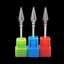 Kimaxcola 3/32 ''вольфрамовое стальное сверло для ногтей пилочка для ногтей твердосплавное сопло для удаления геля для очистки ногтей фрезы M0413