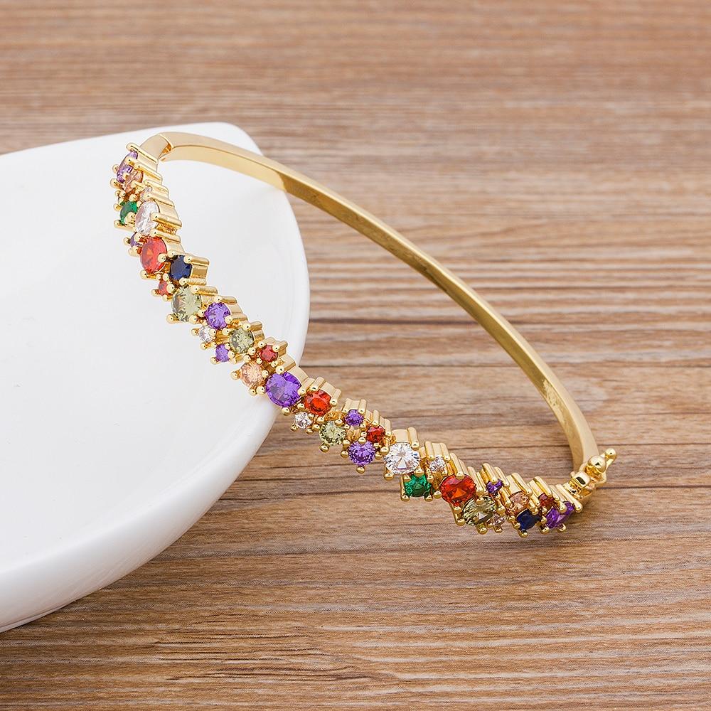 New Design High Quality Copper Zircon Bracelets & Bangles For Women Mama Luxury Brand Bangle Charm Boho Party Jewelry Gift