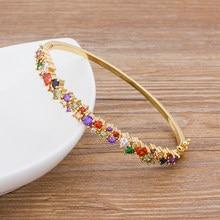Bracelets en cuivre et Zircon de haute qualité pour femmes, marque de luxe, breloque Boho, cadeau de fête, nouveau Design