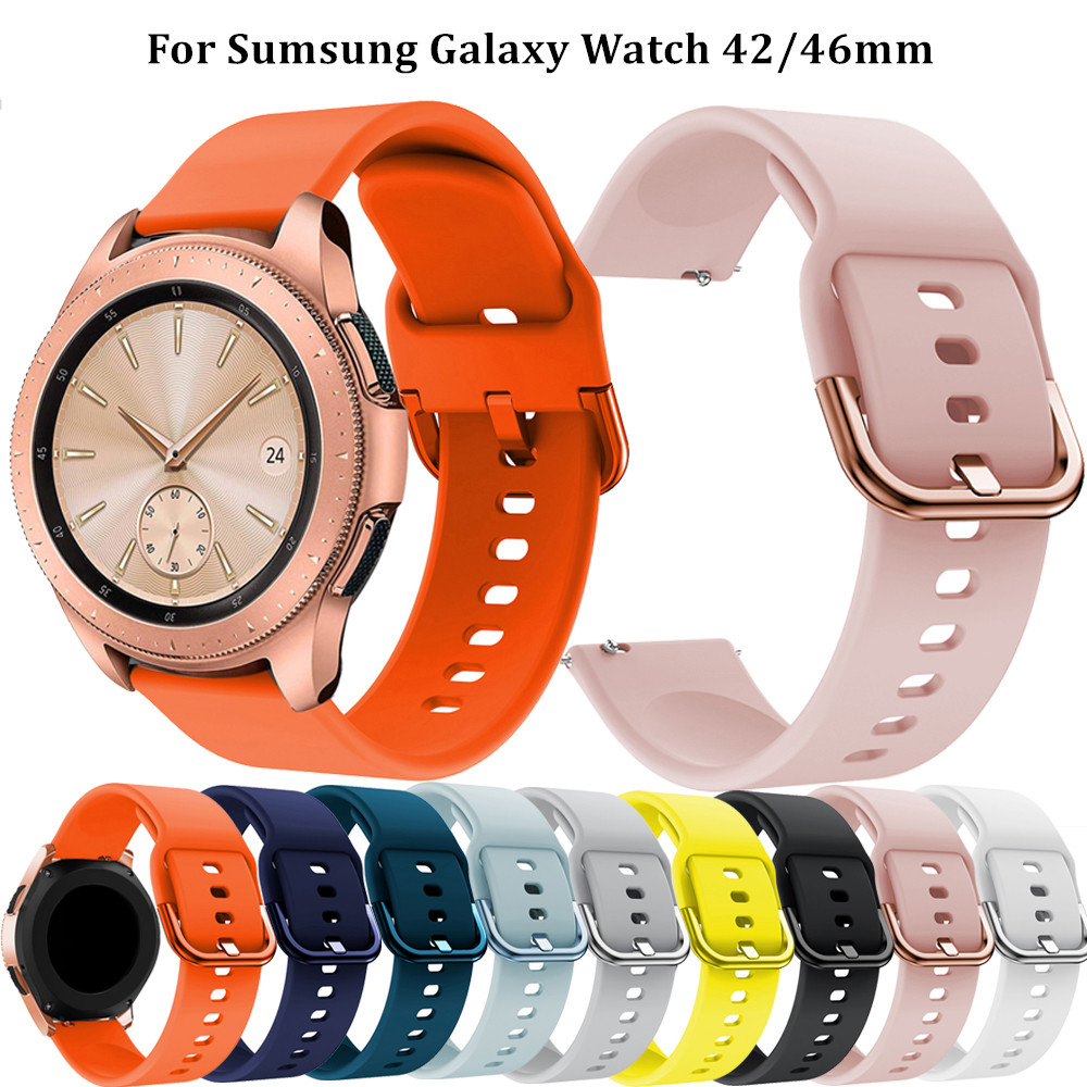 Duoteng 20/22mm Soft Silicone Watchband for Samsung Galaxy Watch Active 2 40/44mm Gear S2 Sport Bracelet Strap for Galaxy Watch