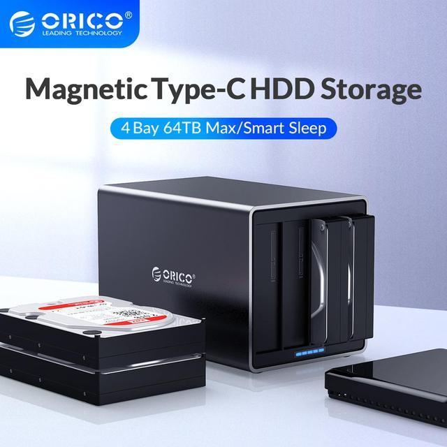 ORICO NS سلسلة 3.5 4 خليج نوع C قاعدة تركيب الأقراص الصلبة دعم 64 تيرا بايت USB3.1 5Gbps HDD حالة UASP مع 78 واط محول قالب أقراص صلبة