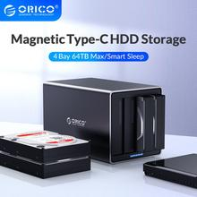 ORICO NS Series 3.5 4 Bay Type C HDD Docking Station Support 64TB USB3.1 5Gbps HDD Case UASP with 78W Adapter HDD Enclosure