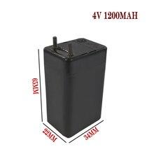 Headlights Storage-Battery Lead-Acid Electric 2pcs 4V Led-Lamp