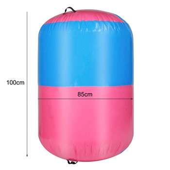 100x85cm Inflatable Airtrack Air Mat Home Roller Small Airtrack Gymnastics Mat Cylinder Gym Training Sport