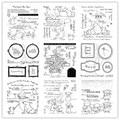 Кролик веселый прозрачный Штамп для DIY скрапбукинга/изготовления карт/Детские Рождественские веселые украшения