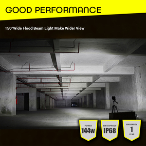 "Image 5 - LED Work Light 7""12V Led Beams 144W Led Bar Car Off road 4x4 Flood Spotlight Accessories for Motorcycle SUV ATV Tractor led ramp"