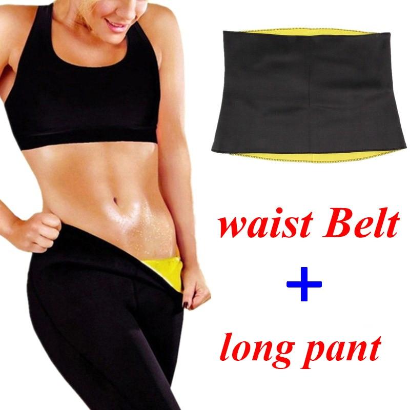 NINGMI Cinto + Calça para As Mulheres Body Shaper Treino de Fitness Em Casa Trainer Cintura Esportes Top Legging Magro Queima de Gordura Shaperwear