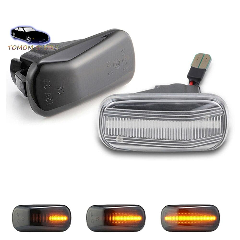 Indicador lateral LED dinámico para señal de giro, repetidor de luces indicadoras para Acura Integra type-r DC2 RSX NSX NA1 NA2 2 uds.