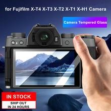 2PCS Camera Original 9H Camera Tempered Glass LCD Screen Protector for Fujifilm Fuji X T4 X T3 X T2 X T1 X H1 Camera
