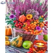 Gatyztory Раскрашивание по номерам цветы и фрукты для взрослых
