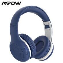 Mpow CH6 Plus Kids Hoofdtelefoon Draadloze Bluetooth 5.0 Opvouwbaar Over Ear Headset Met Microfoon & 16H Speeltijd voor Kinderen Tieners Studie