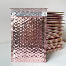 50Pcs/Lot Rose gold Bubble Envelopes Bags Mailers Padded Shipping Envelope Bubble Mailing Bag Tyrant Gold Packaging Bag 18x23cm