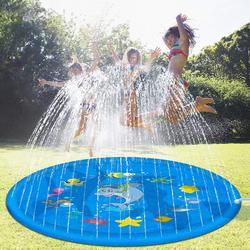170 cm inflável spray água almofada verão crianças jogar tapete de água gramado jogos almofada sprinkler jogar brinquedos ao ar livre banheira natação brinquedo da piscina