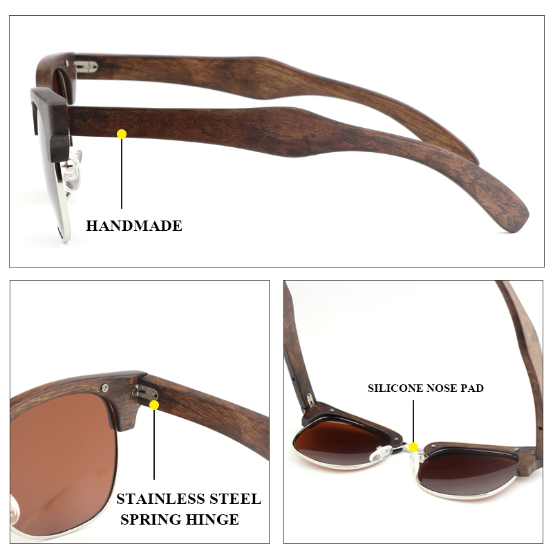 Высокое качество поляризационные деревянные солнцезащитные очки es классические ретро брендовые дизайнерские женские мужские модные полу...