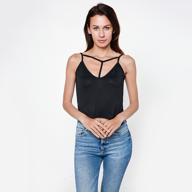 Summer Slim Crop Tops Sexy Women Sleeveless Tank Tops Adjustable Camisoles Cotton Bustier Unpadded Bandeau Bra Vest
