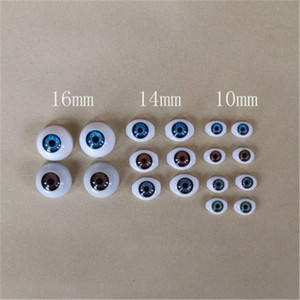 10MM 14MM 16MM Acrylic Eyes For Reborn Dolls Brown Green Grey Color Eyeball For Blyth Dolls Diy BJD Doll Accessories(China)