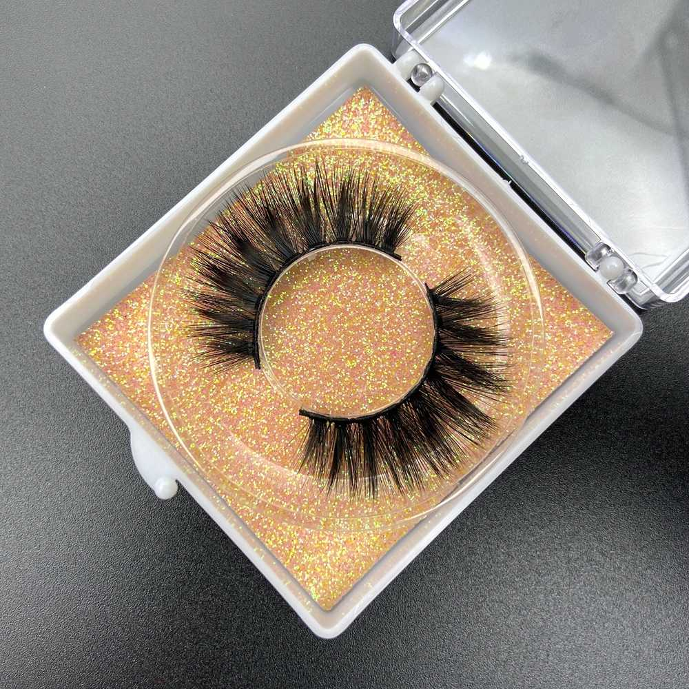 Buzzme natural long 3D faux Mink Lashes Natural Long False Eyelashes Dramatic Volume Fake Lashes Makeup Extension Eyelashes
