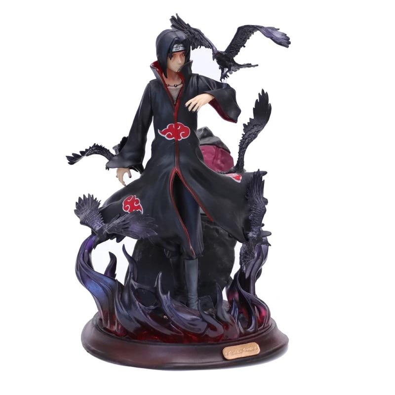 Naruto GK Kakashi Itachi avec Crow 28 CM PVC Action Figure Statue-Sans Boîte