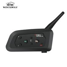 цена на WINTUWAY V4 1200M 4 Riders Helmet Intercom Headset Intercomunicador Motorcycle Bluetooth Wireless Interphone With FM Radio