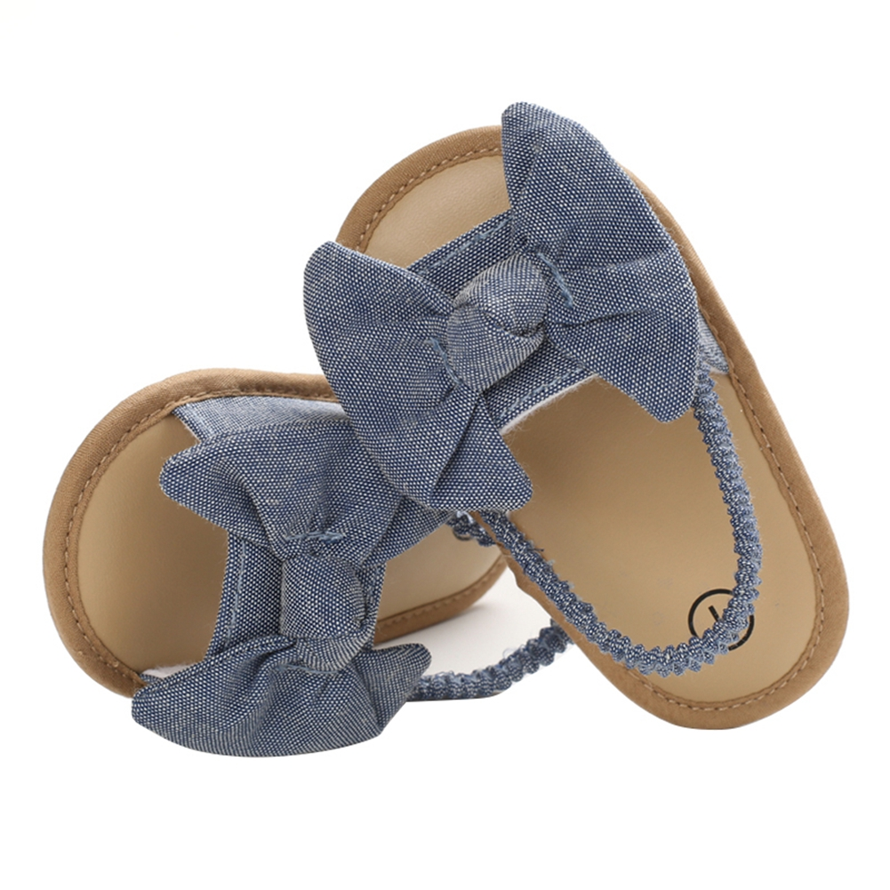 2020 Baby Girls Bow Knot Sandals Cute Summer Soft Sole Flat Princess Shoes Infant Non-Slip First Walkers 5