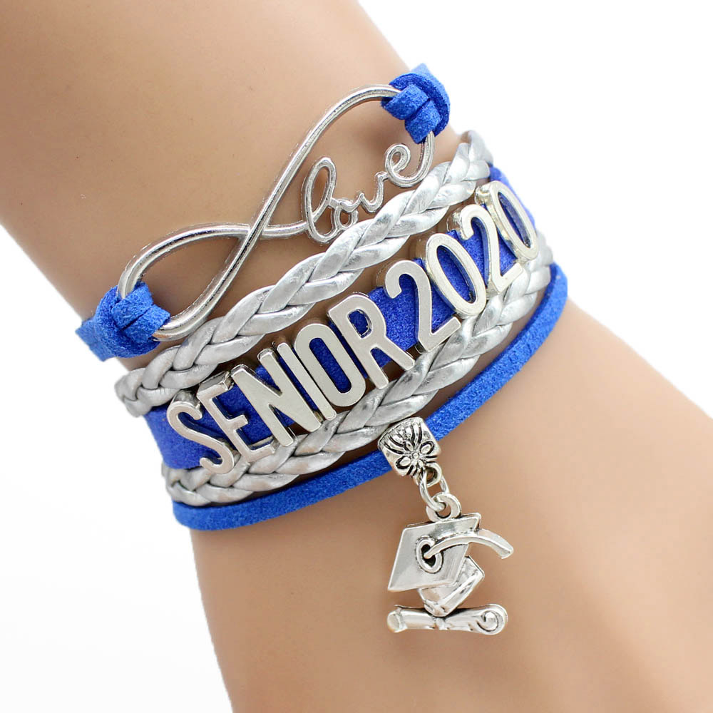Infinity Love Senior 2018 2019 2020 2021 Graduates Graduation Gift Jewelry Bracelets for Women image