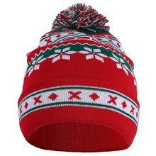 Зимняя мужская и женская Милая Рождественская Снежинка шапочка вязаная Лыжная Шапка Осень Зима Санта-Снежинка вязаный свитер шапка креативный