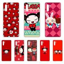 Pucca rot Nationalen puppe abdeckung Transparent Telefon Fall Für HUAWEI nove 5t p 8 9 10 p20 P30 p40 P pro Smart 2017 2019 Z lite(China)