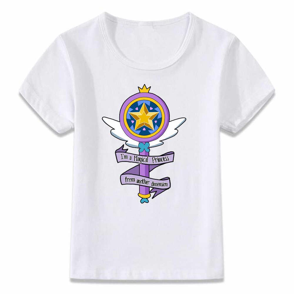 ملابس الاطفال تي شيرت الأميرة السحرية من نجم البعد الآخر مقابل قوى الشر الفتيان والفتيات طفل تي شيرت ، bal551