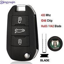 Автомобильный Дистанционный ключ jingyuqin 434 МГц для Citroen C4L New Elysee для Peugeot 508 3008 2008 301 434 МГц ID46 Авто без ключа