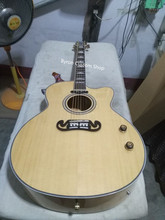 free shipping gloss finish jumbo body size 43 inches custom natural color acoustic electric guitar
