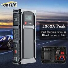 GKFLY 2000A urządzenie do uruchamiania awaryjnego samochodu Power Bank 68800mAh 12V awaryjne urządzenie rozruchowe do benzyny Diesel Portable