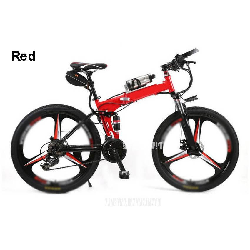 Neue 26 zoll Elektrische Fahrrad Faltbare Magnesium Legierung Integrierte Rad Carbon Stahl 36V 250W Stadt/Berg/ straße E Bike