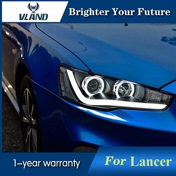Front Lamp Angel Eyes For Mitsubishi Lancer EX 2008-2015 LED Headlight Bi-Xenon Lens