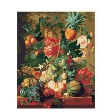 Картина по номерам фрукты с рамкой 40x60 на холсте рисование