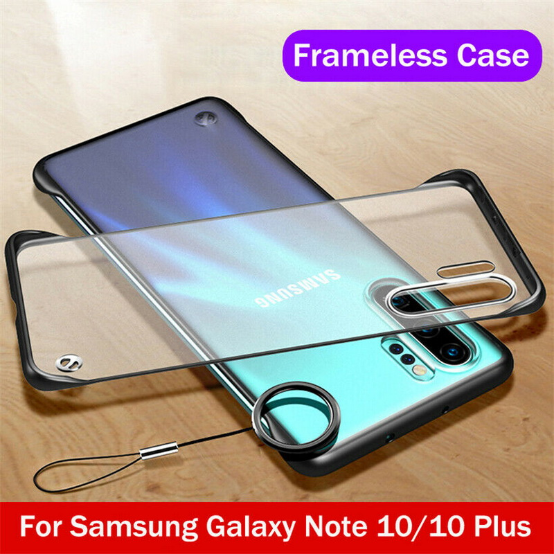 For <font><b>Samsung</b></font> <font><b>A70</b></font> A50 Note 10 9 8 Plus Frameless Clear Hard <font><b>Ring</b></font> <font><b>Case</b></font> Cover For <font><b>Galaxy</b></font> S8 S9 S10 Plus S10E A10 A30 A60 A7 2018 image