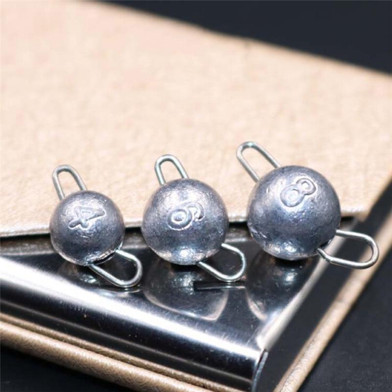 5pcs/Lot Lead Weight With Swivle Cheburashka Sinker Lead Sinker Jig Head Lead Weights 4g 6g 8g 10g 12g 14g 15g 18g Lure Fishing
