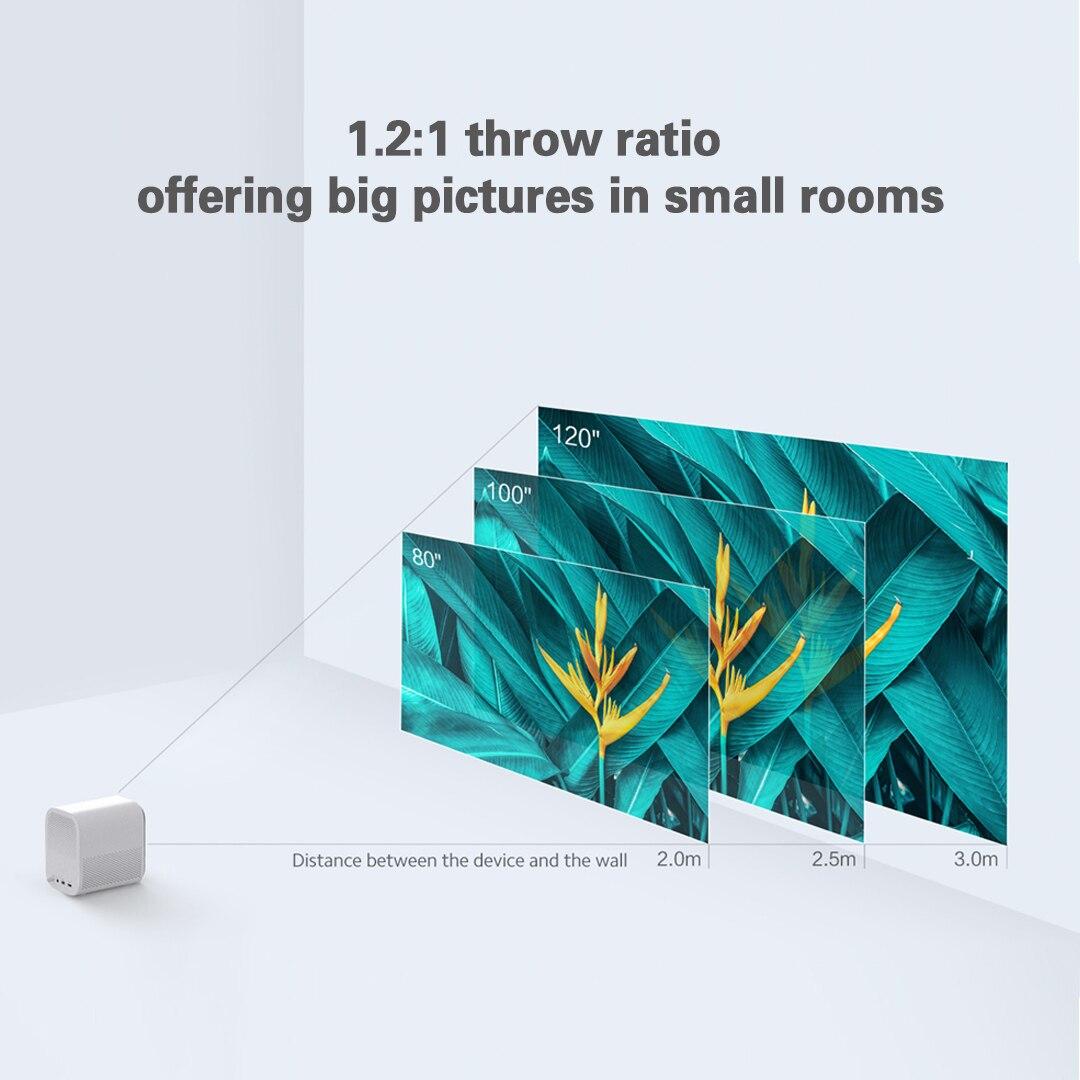 Versão global xiaomi juventude edição projetor 1080p hdr10 android tv 9.0 auto-foco dolby áudio google assistente de cinema em casa-1