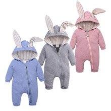 Newborn Bodysuit Baby-Boys-Girls Overalls Hoodie Infant Rompers Big-Ears Winter Kids