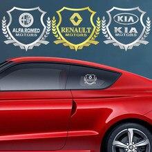 Insignia de decoración de ventanas lateral de coche, Logo adhesivo para NISSAN Tiida y Teana ALTIMA SYLPHY MURANO KICKS QASHQAI, 1 Uds.