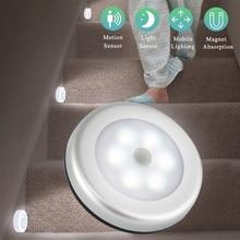 6 LED Cool Portable Wireless Motion Sensor Night Light Led Lights for Home for Living Room цены