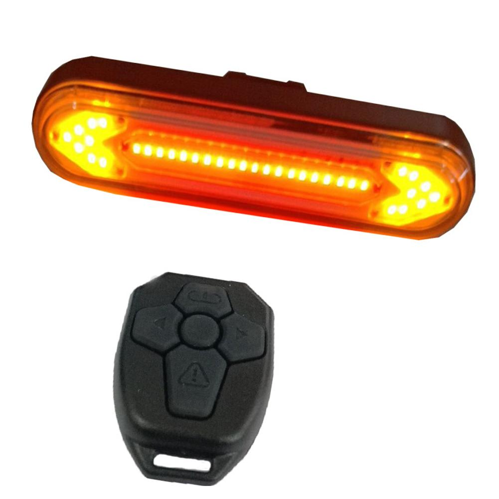 USB Rechargeable Bike Tail Light Bicycle Safety Warning Rear Lamp Remote Control