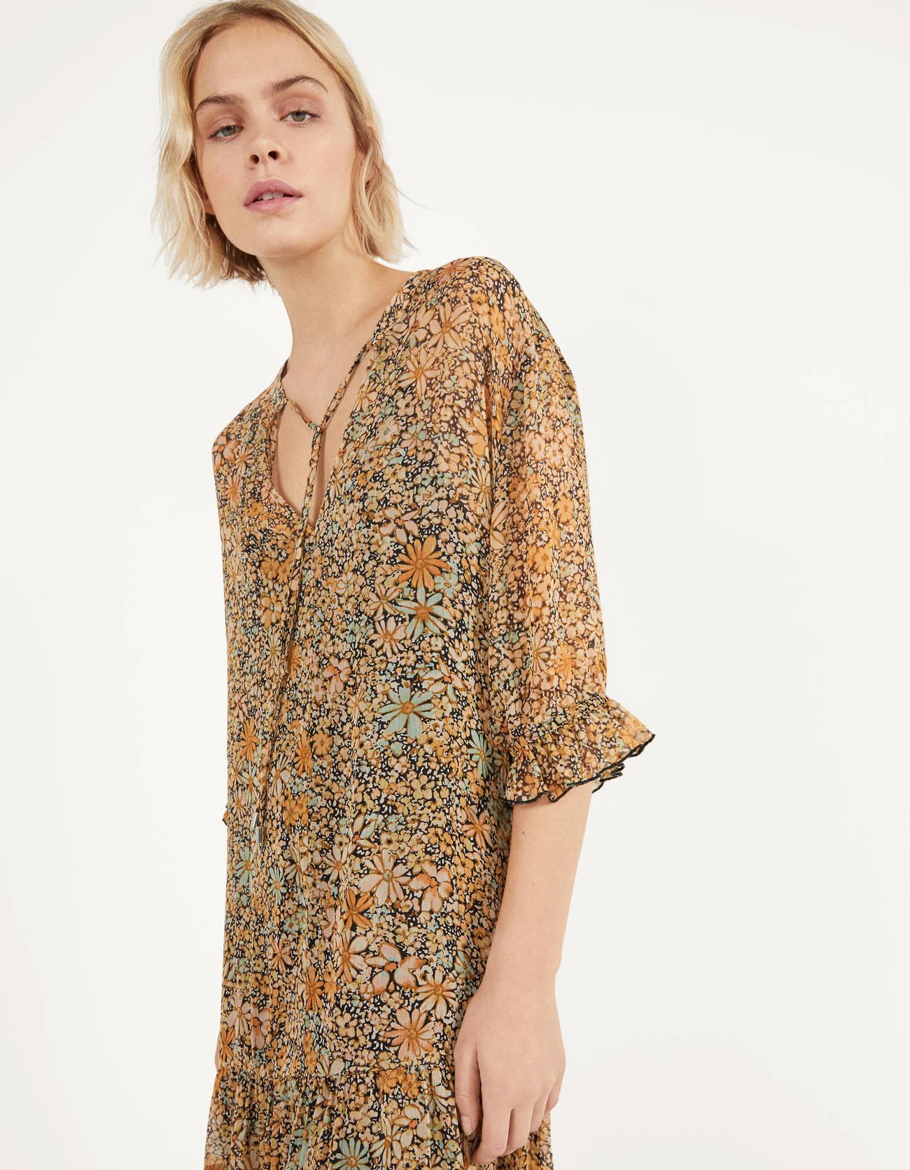 2020 new Spring Summer New Style European Flower Long female Dress zaraing vadiming sheining women dress