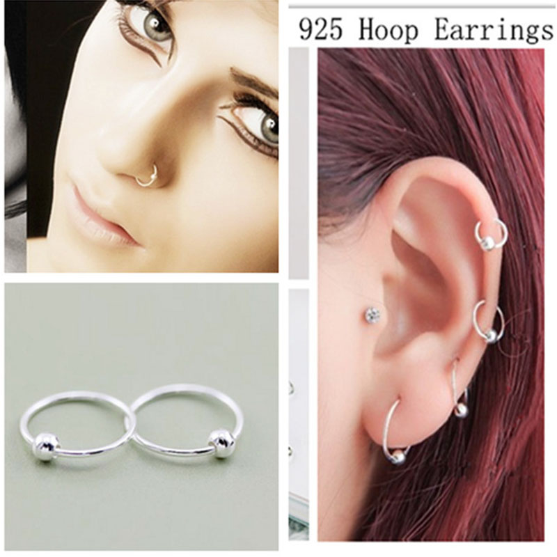 925 silver nose ring navel ring eyebrow ring body piercing jewelry for women 8mm 10mmanti- allergy-3