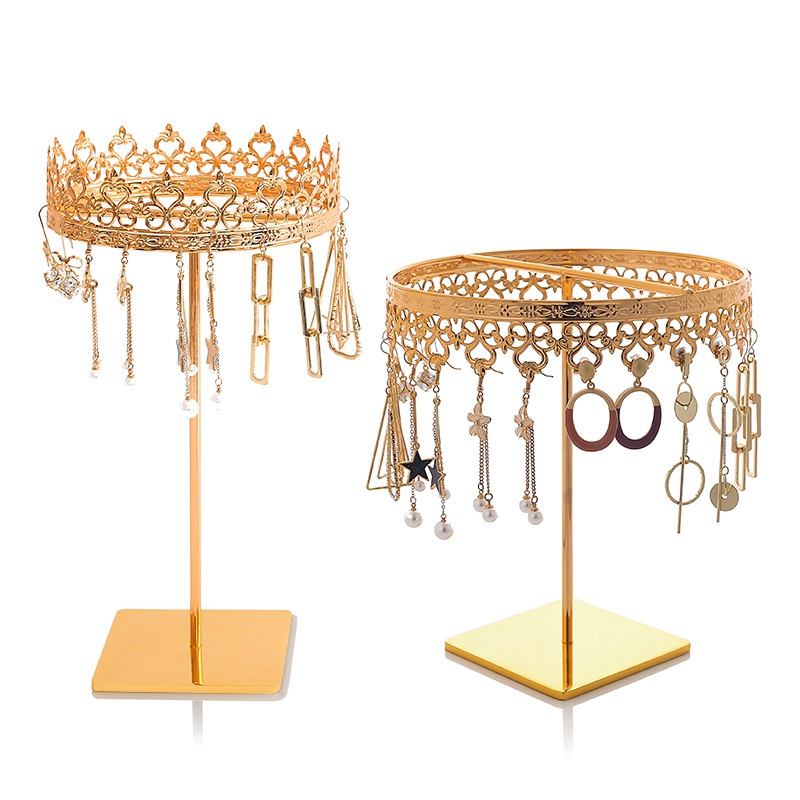 Gold Jewelry Earring Holder Necklace Display Organizer Rack|Watch Boxes| |  - title=
