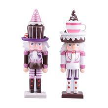 2020 nowy drewniany dziadek do orzechów lalek rzemieślnicze lody kochanie dziadek do orzechów żołnierz pulpit dekoracje bożonarodzeniowe na prezent tanie tanio CN (pochodzenie) Ludzi Europa Drewna