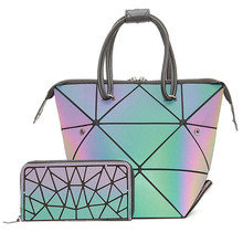 Luminous set Crossbody Bags For Women 2020 Geometric Deform Purses and Handbags femme sac holographic lady Shoulder tote bag