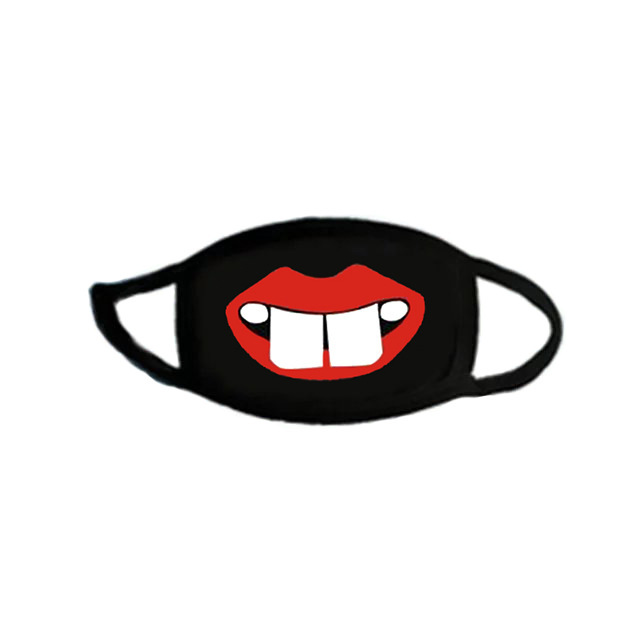 Cotton Mouth Masks Dust Black Face Mask Funny Cute Animal Kawaii On Face Women Men Kids Unisex Winter Face Protection Korean 5